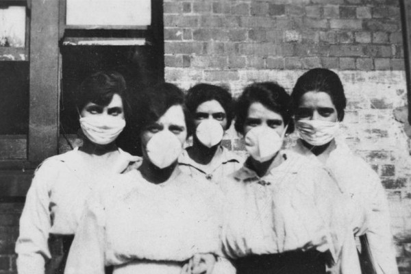 Five women battling spanish flu