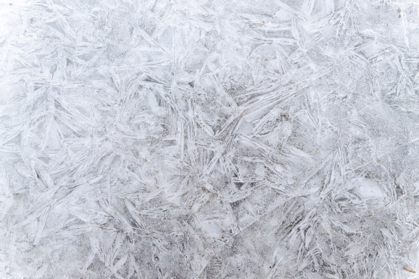 Frost crystals