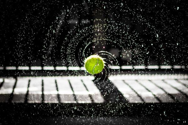 Spinning Tennis Ball