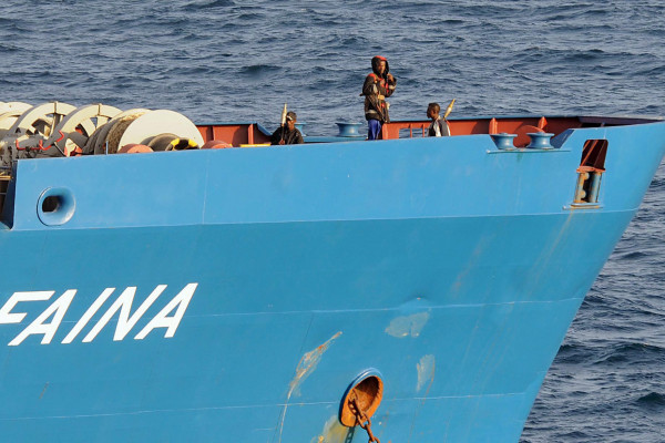 The MV Faina cargo ship, which was hijacked by pirates in 2008.