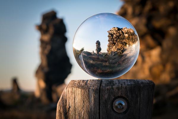 A glass ball