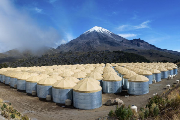 The HAWC Observatory array in Mexico