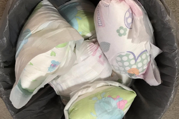 The hardest part about recycling used nappies is opening them.