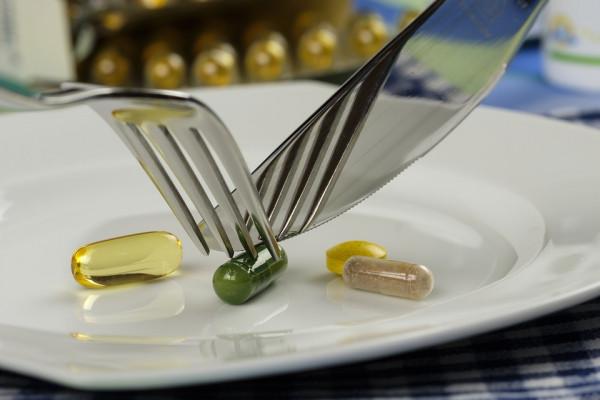 Pills on a plate