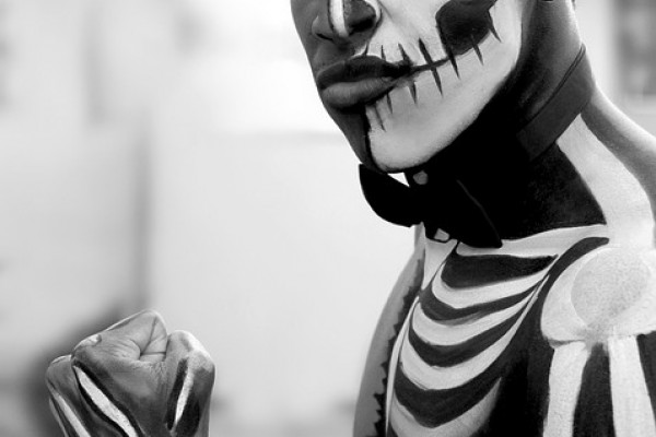 Man with face paint