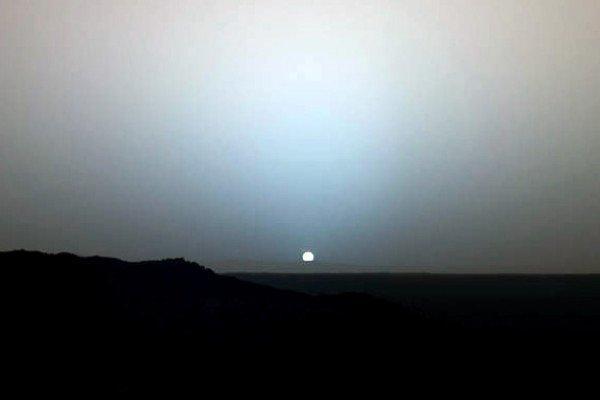 Sunset on Mars captured by Mars Exploration Rover Spirit