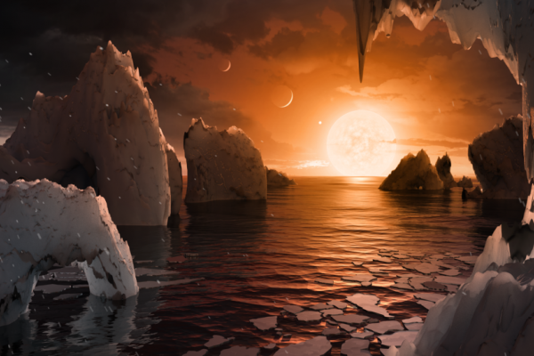 Sunset on an alien planet - TRAPPIST-1f.