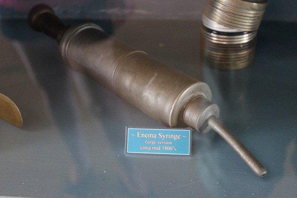 Enema syringe from the 1800's