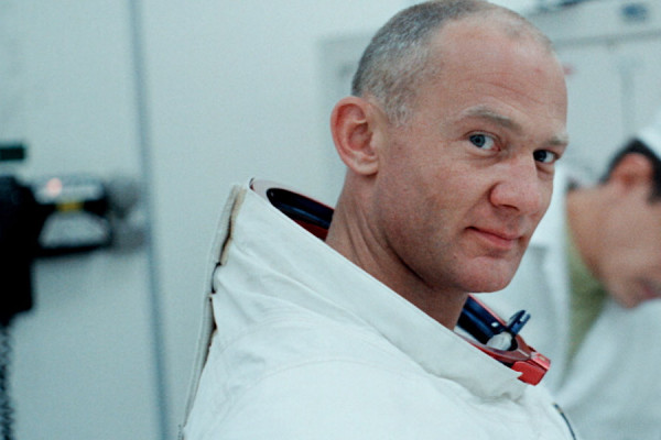 Buzz Aldrin in a still from the film Apollo 11