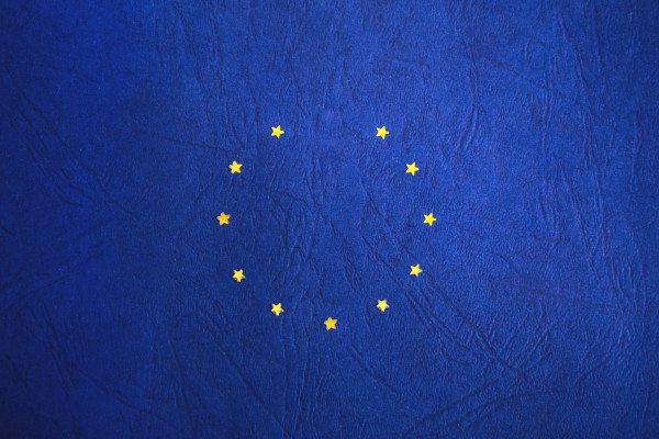 EU flag with one star missing - Brexit