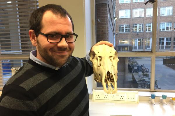Tom with deer skull