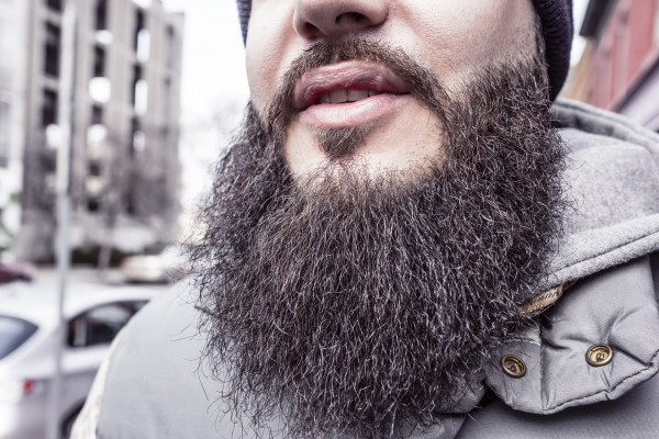 Close-up of a large beard