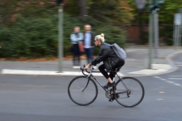 Woman on a bike