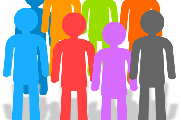 this is a picture of people standing together