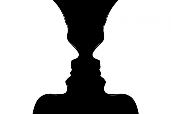Two faces, or a candlestick?