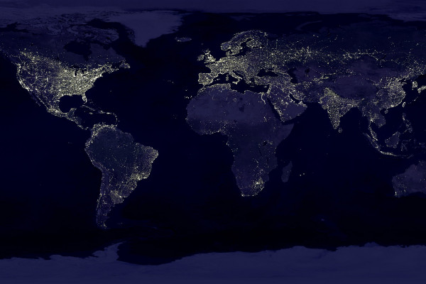 Earth at night