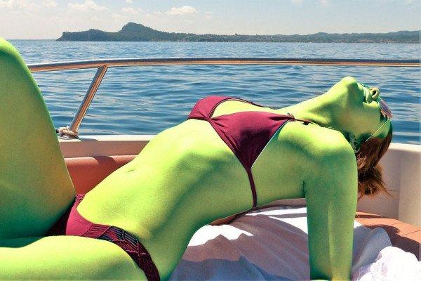 Green sunbather