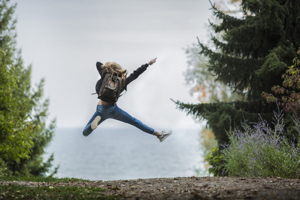 Person jumping in the air