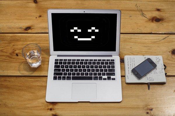 Smiling laptop
