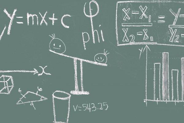 Maths on a blackboard