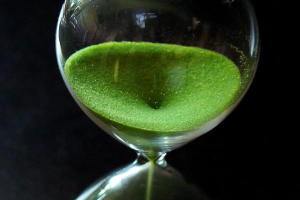 Sand falling through a timer