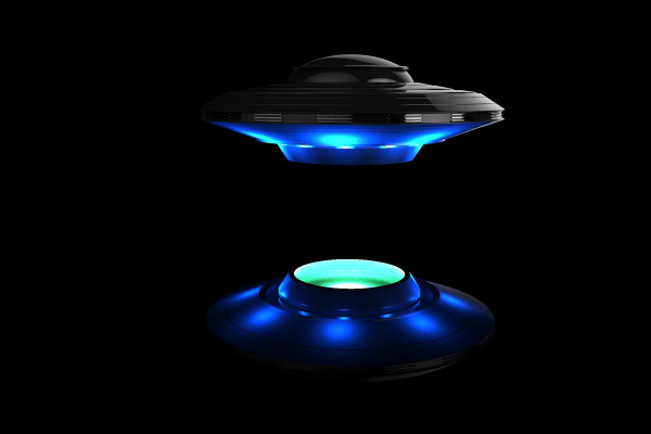 Artist's impression of an alien spacecraft or flying saucer