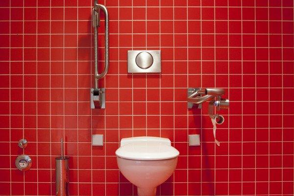 A public toilet.