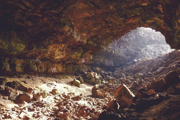 A cave.
