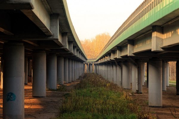 A concrete raised highway.