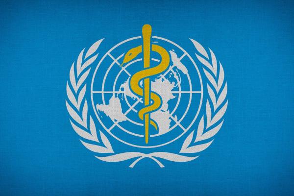The logo of the World Health Organisation.