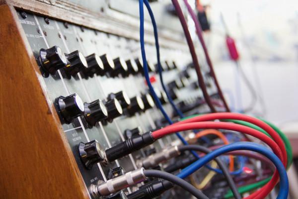 A modular synthesiser.