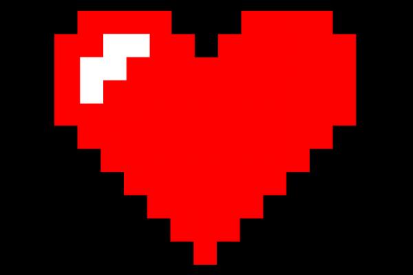 A pixel heart