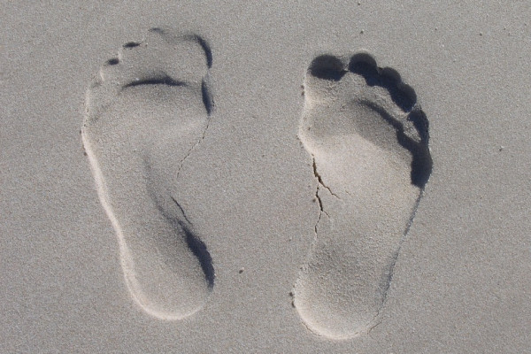 Image of foot print in sand