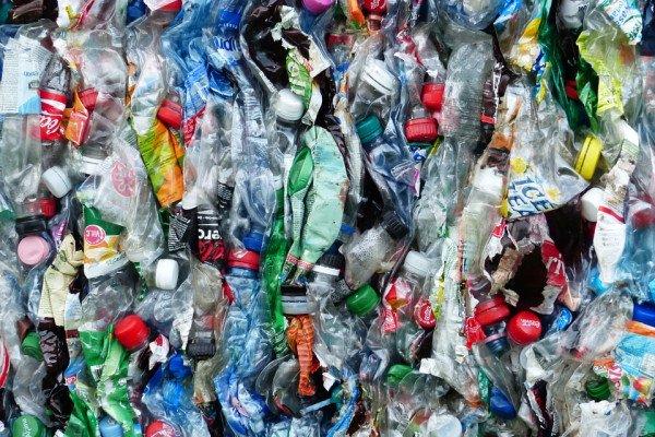 Waste plastic bottles