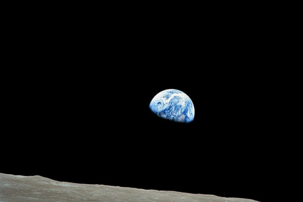 An image of Earth from the Lunar surface