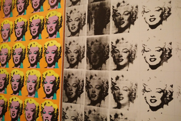 Andy Warhol images of Marilyn Monroe