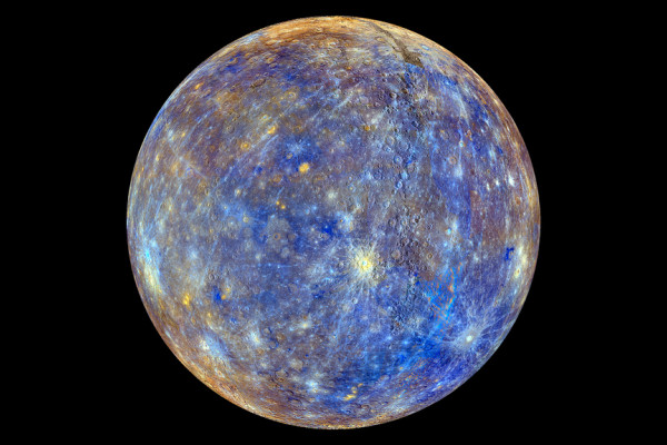False colour view of Mercury