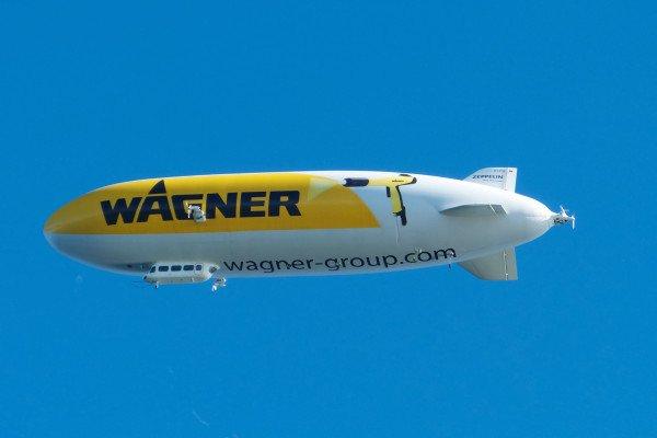 An airship in flight