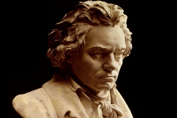 A bust of Beethoven.