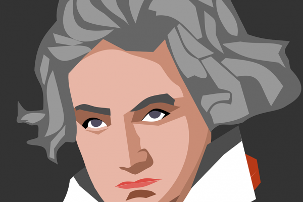 An illustration of the composer Beethoven.