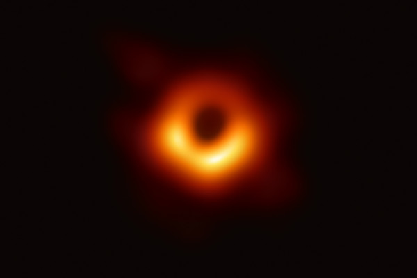 Event Horizon Telescope (EHT) researchers unveiled the first direct visual evidence of the supermassive black hole in the centre of galaxy Messier 87.