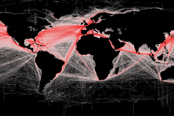 Digital communication between ships could help optimise shipping routes