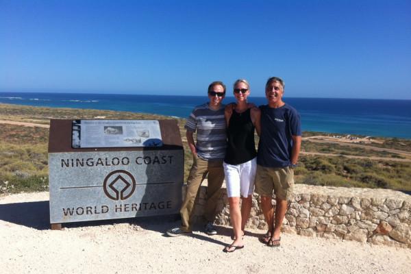 Chris Smith, Sam Reynolds and Brad Norman at Ningaloo