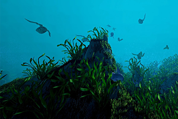 A screenshot from the game Ecosystem