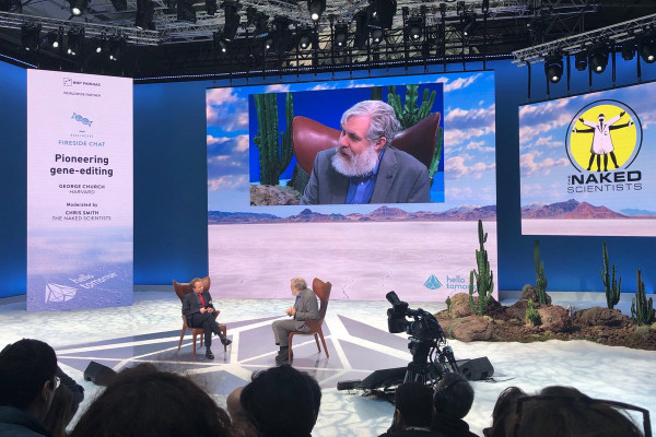George Church in coversation with Chris Smith from the Naked Scientists at the Hello Tomorrow Summit, Paris, 2019