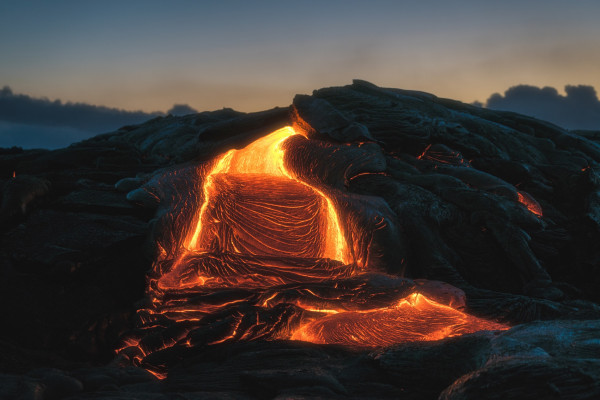 Lava field at Kilauea Volcano, Hawaii