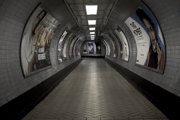 Tunnel in the London Underground