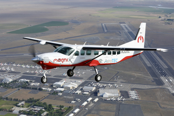 A retrofitted Cessna Grand Caravan takes an all electric flight.