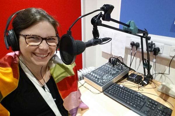 Image of Mariana in the recording studio