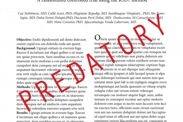 Spoof front-page for a predatory journal